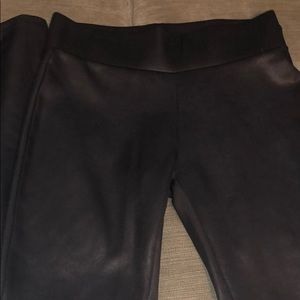 Pants - Black faux leather leggings